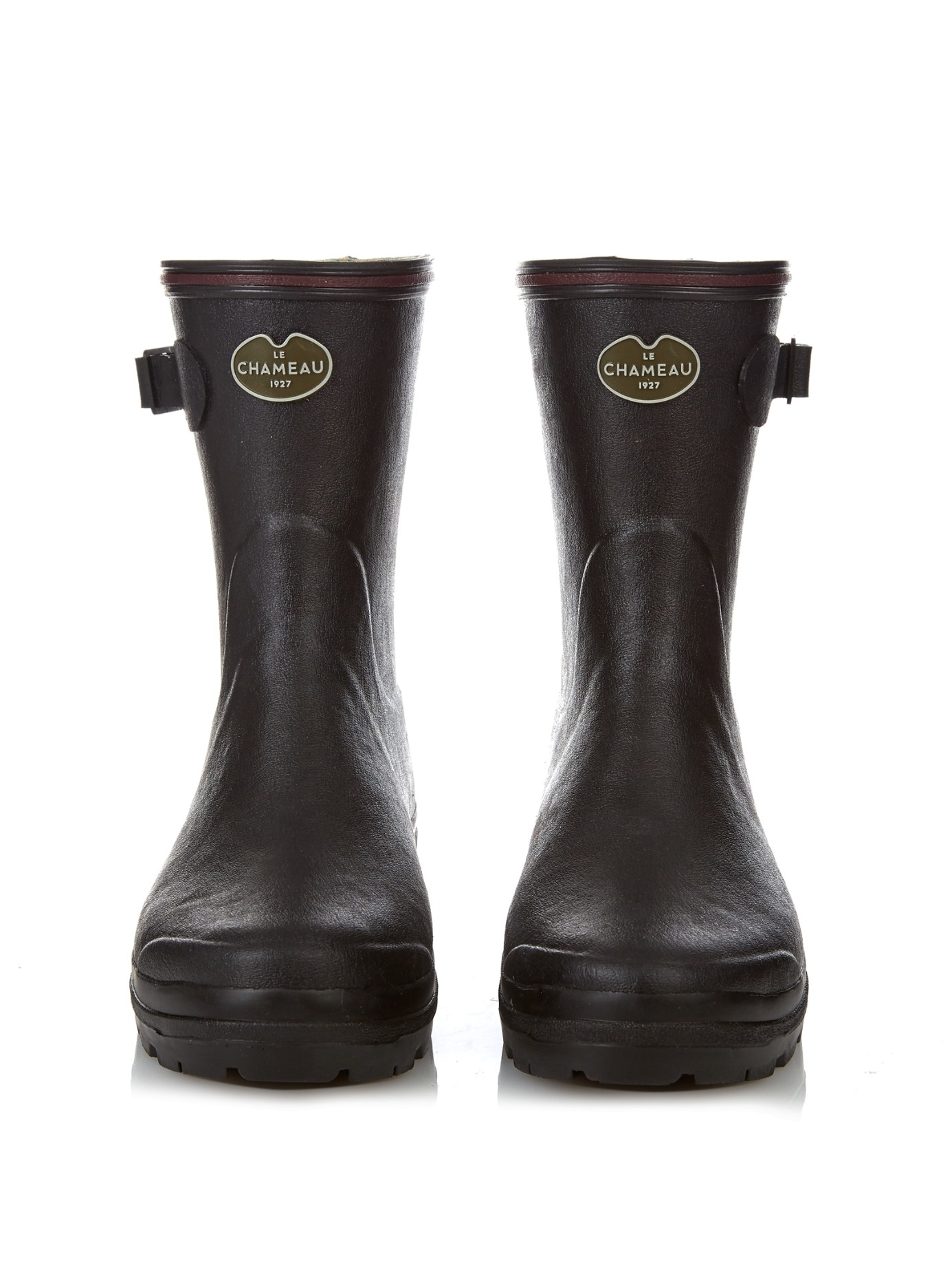Le Chameau Giverny Low Rubber Boots in Black