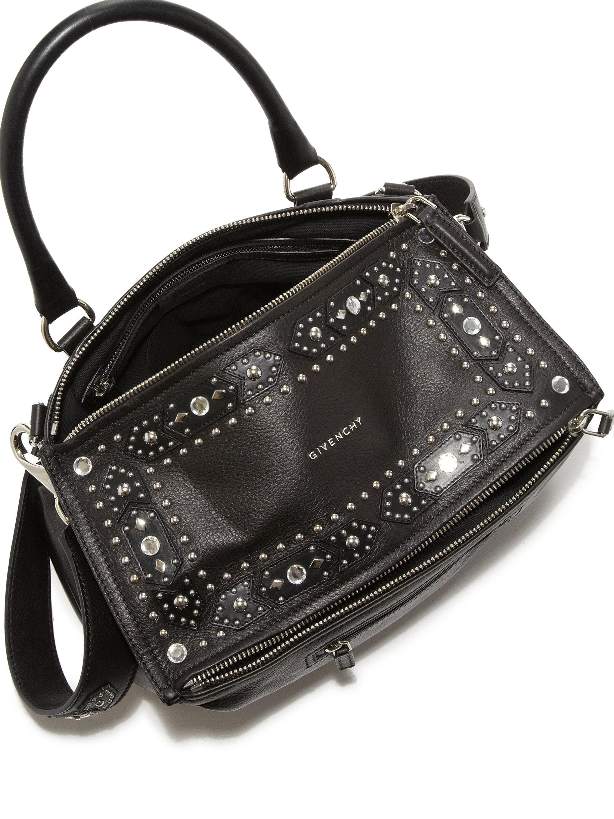 2ba0e59125de givenchy mini pandora shoulder bag in embellished black leather ...