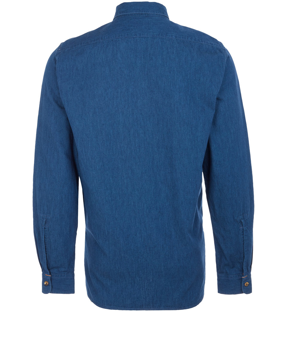 Nudie Jeans Denim Cole Sailors Shirt in Blue for Men