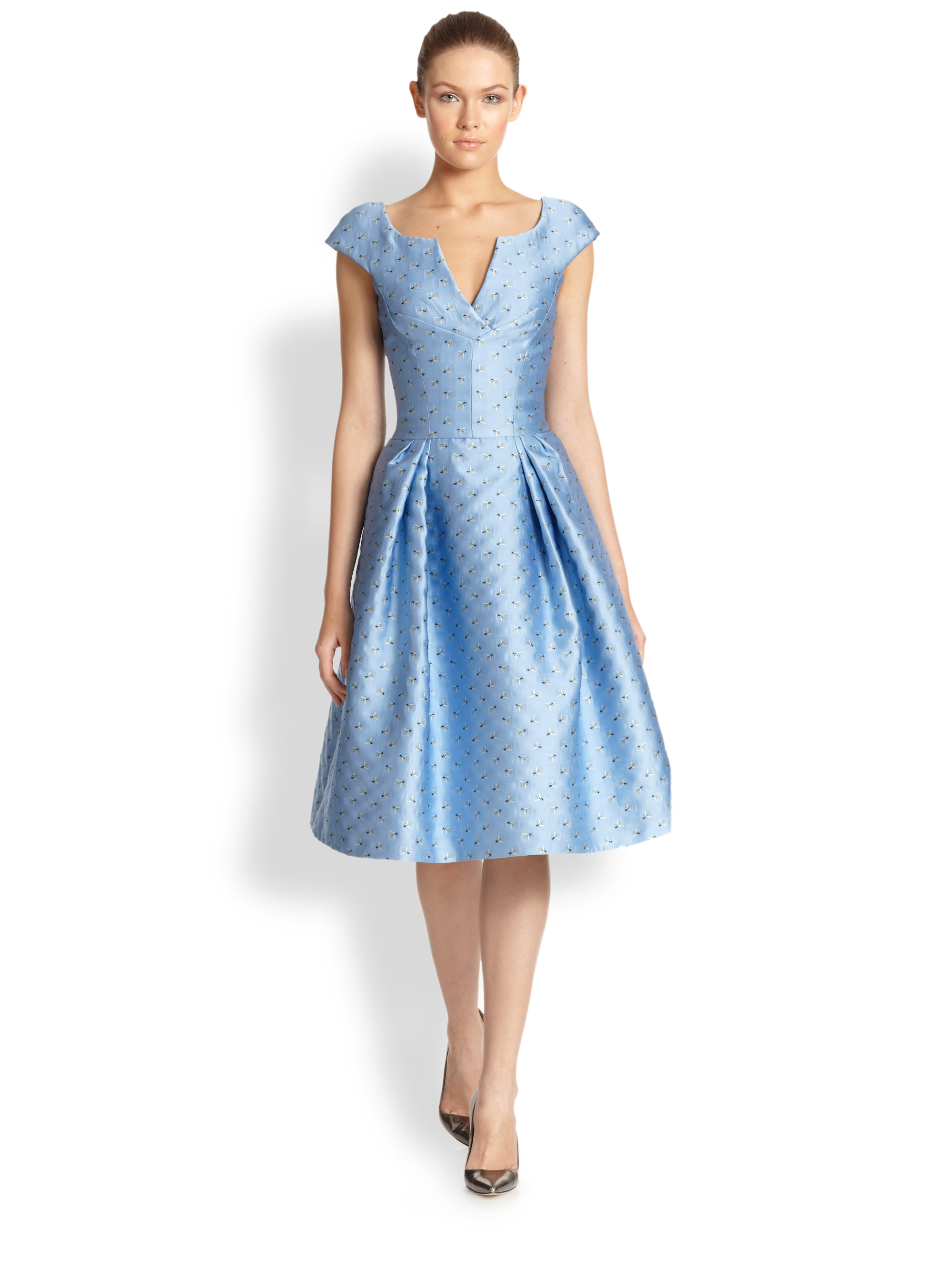 Bee Jacquard Tail Dress