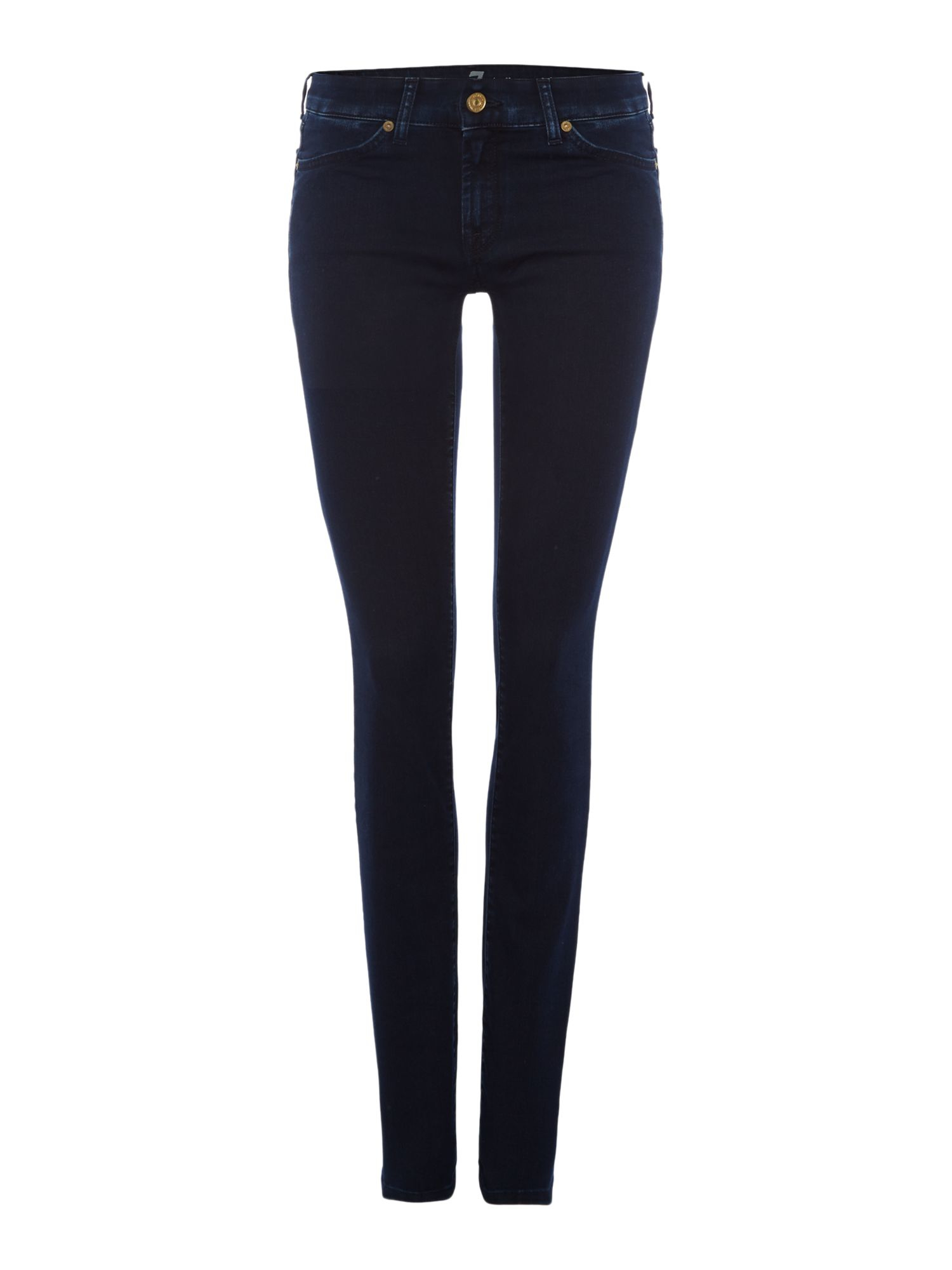 7 for all mankind cristen mid rise skinny jean dark indigo. Black Bedroom Furniture Sets. Home Design Ideas