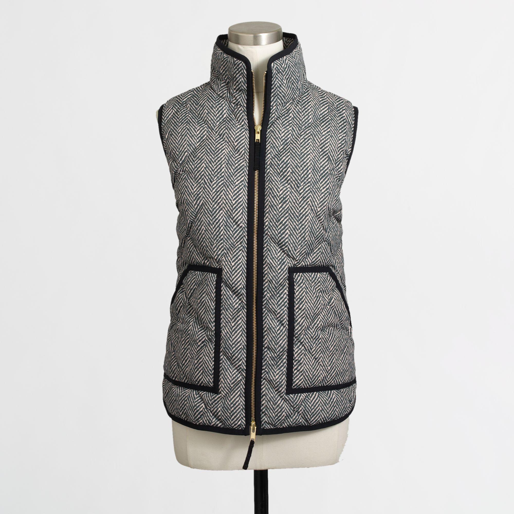 Lyst J Crew Factory Quilted Puffer Vest In Herringbone