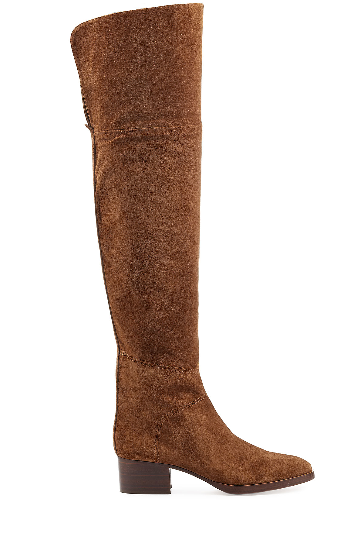 Chlo 233 Chlo 233 Over The Knee Suede Boots Camel In Brown Lyst