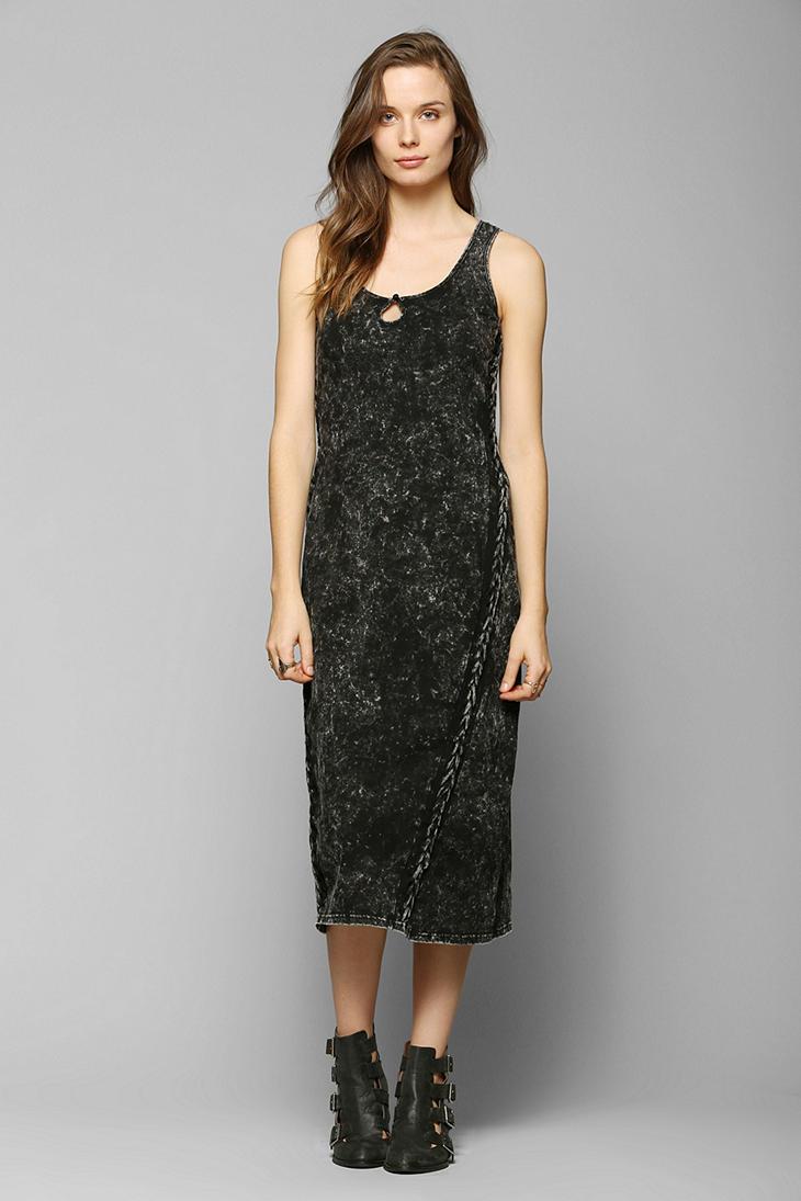Urban Outfitters Staring At Stars Acidwash Knit Maxi Dress