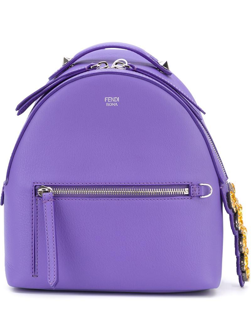 6a1efea53886 Lyst - Fendi Mini Backpack in Purple