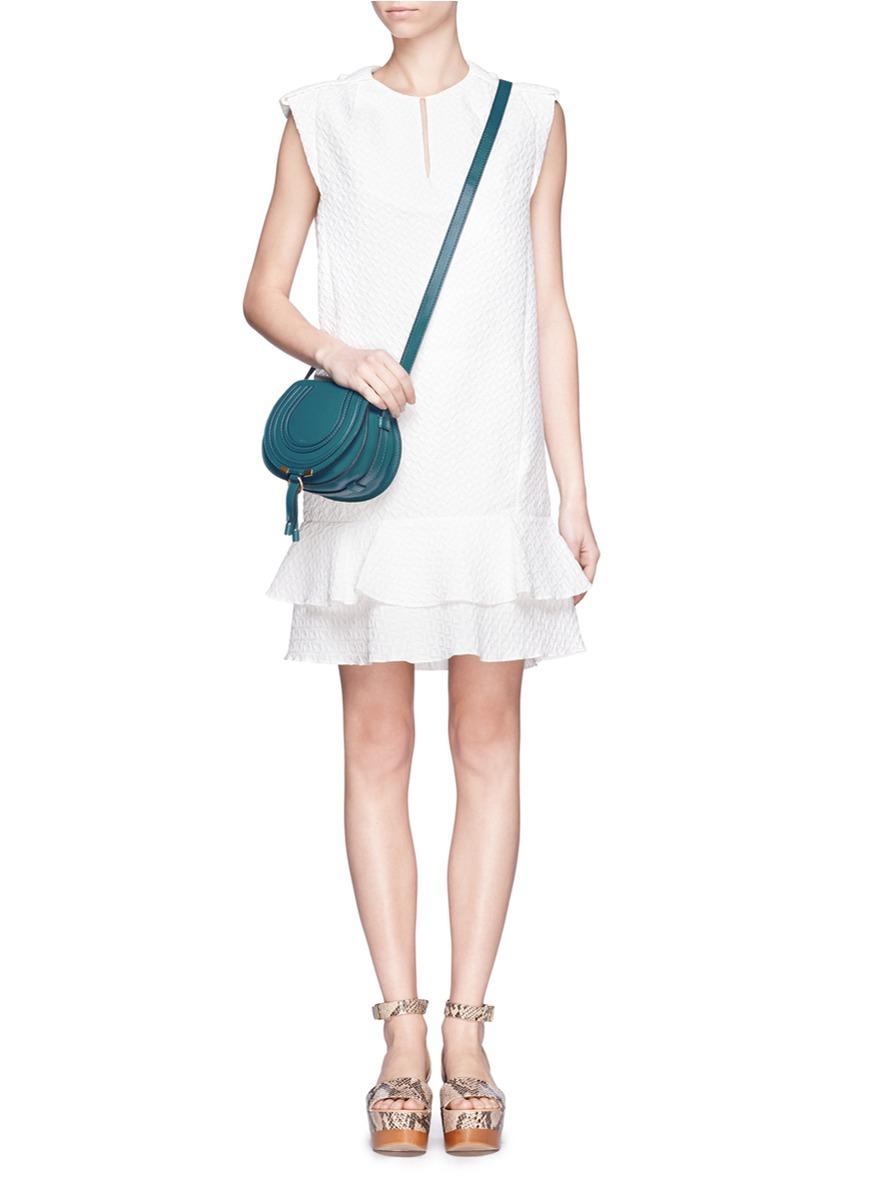 Chlo¨¦ Marcie Round Crossbody Bag in Blue (Blue and Green)   Lyst