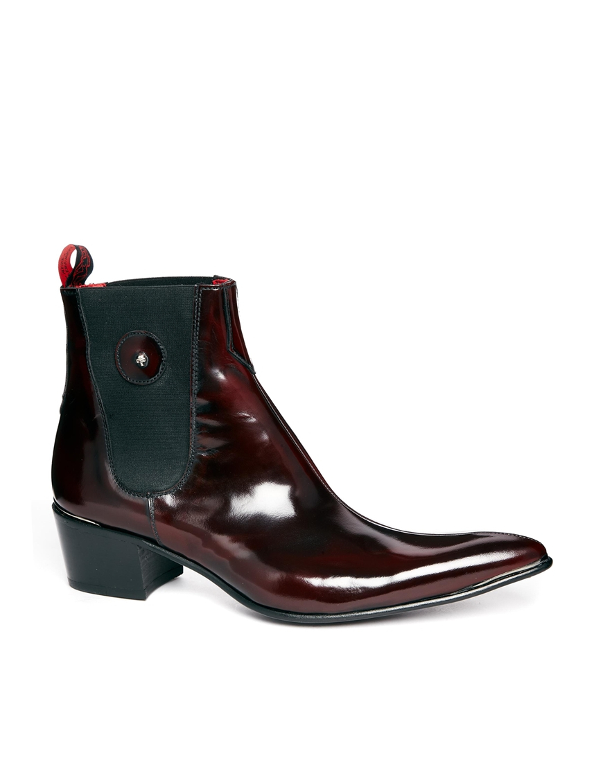 Jeffery West Chelsea Boots In Red For Men Lyst