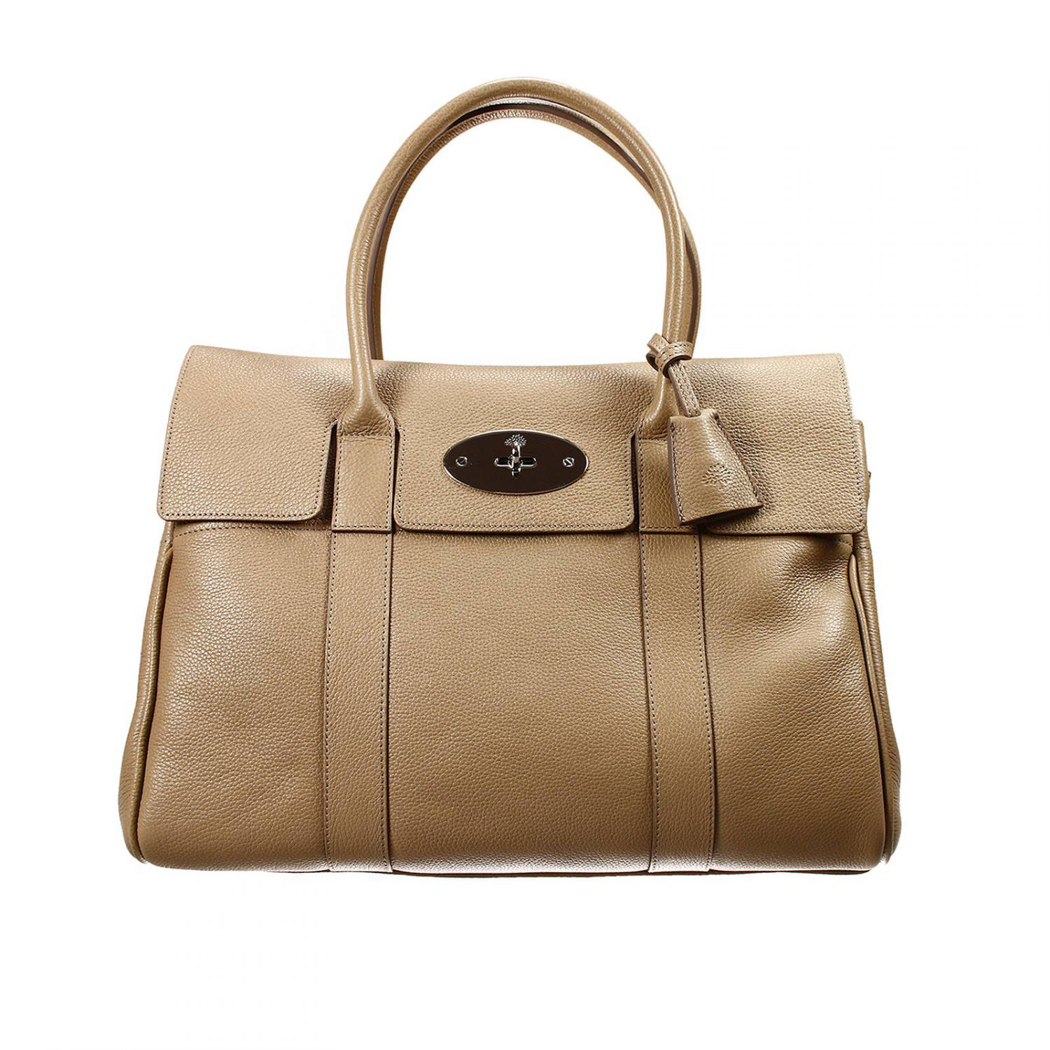 Mulberry handbag bayswater leather in gray lyst for The bayswater