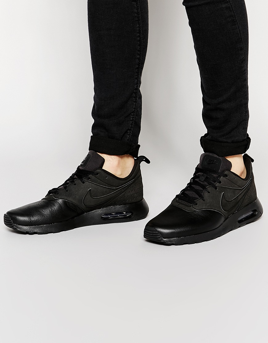 nike air max gris ultime - Nike New Air Max Tavas Leather Trainers 802611-002 in Black for ...