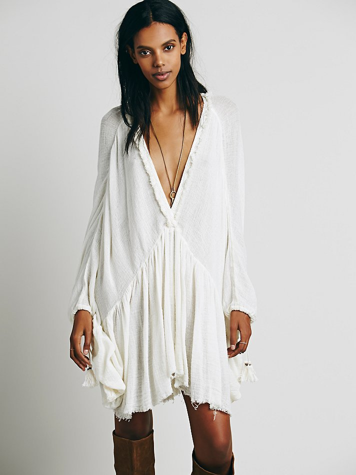 Lyst Free People Get Yer Gauze Tunic In White
