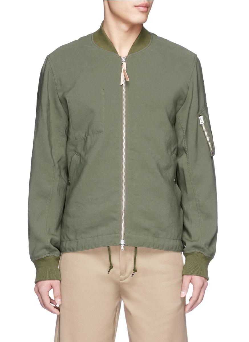 Nanamica Satin Backing Na-1 Bomber Jacket in Green for Men