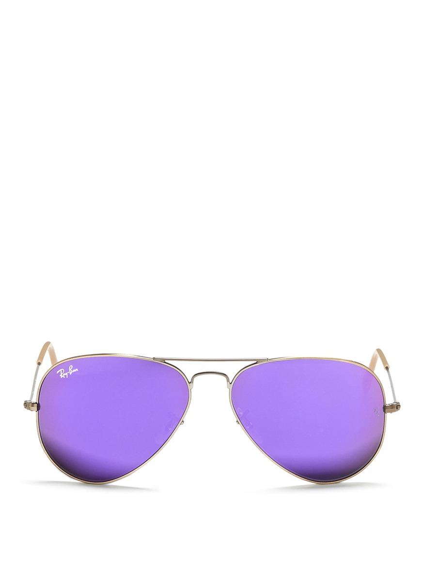 7f8615a770b ... new style ray ban aviator flash lens sunglasses in metallic for men  lyst e542b e287c ...
