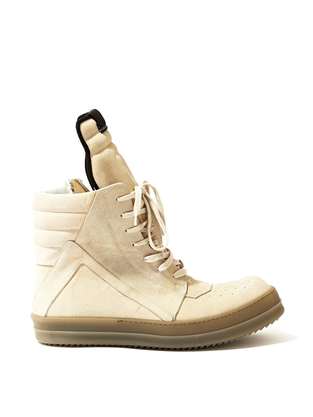 Rubber Rings For Men >> Rick Owens Mens Suede Geobasket Sneakers in Beige for Men (Neutral) | Lyst