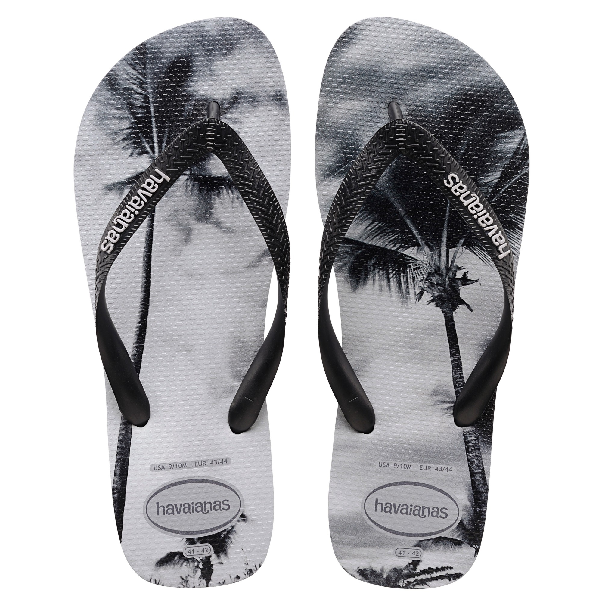 6a41fd0ee439 Havaianas Beach Print Flip Flops in Black for Men - Lyst