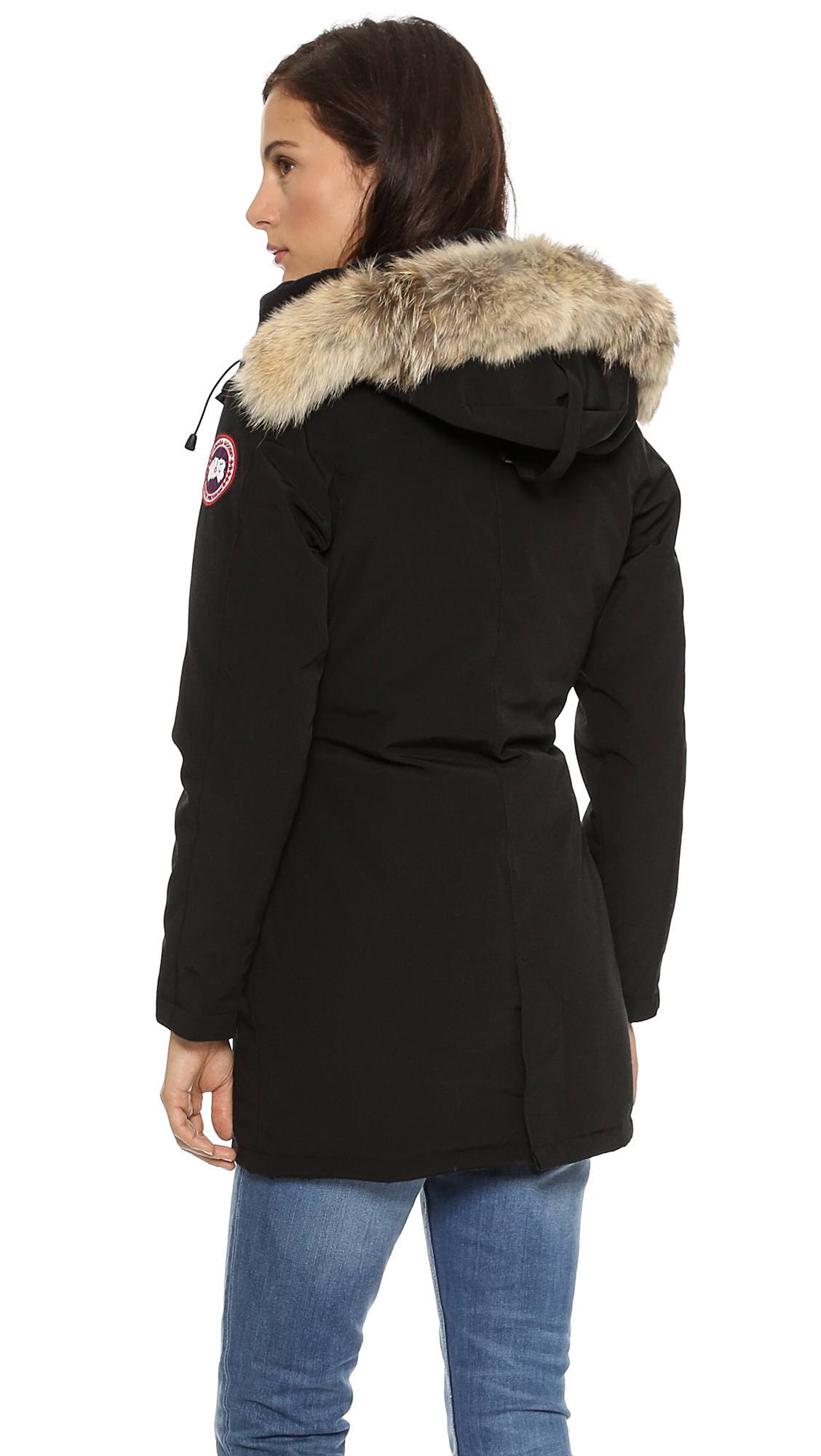 canada goose victoria parka tan in black lyst. Black Bedroom Furniture Sets. Home Design Ideas