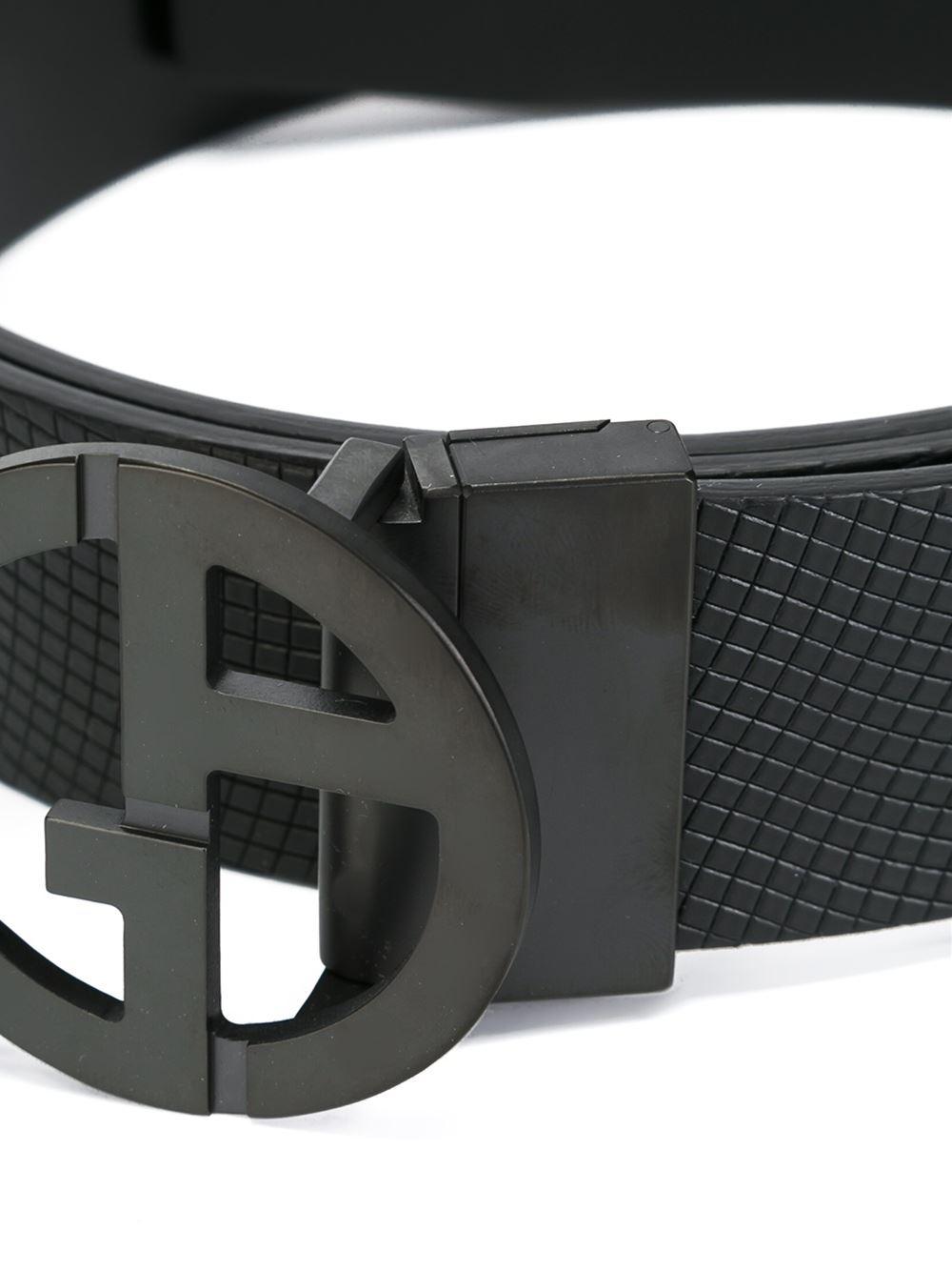 Giorgio armani Logo Buckle Reversible Belt in Black for ...