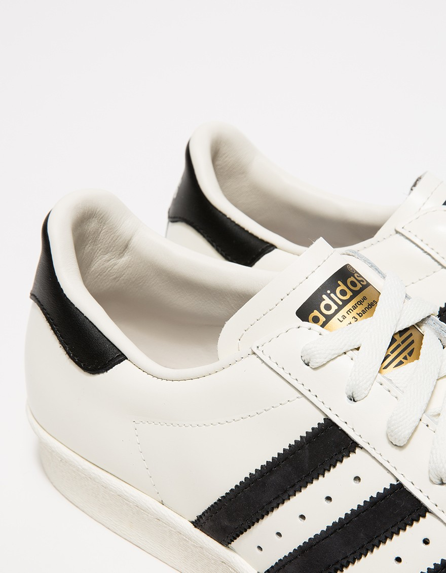 outlet store b4930 d5ab8 Adidas White Superstar 80s Vintage Deluxe for men