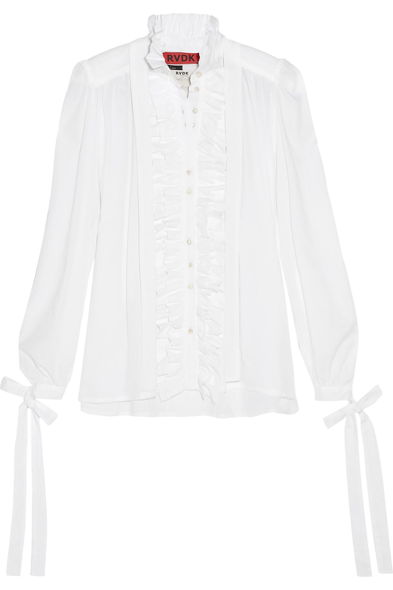 Ronald Van Der Kemp Woman Layered Cotton Shirt White Size 40 Ronald van der Kemp Outlet Perfect Sale Big Sale MWSILx