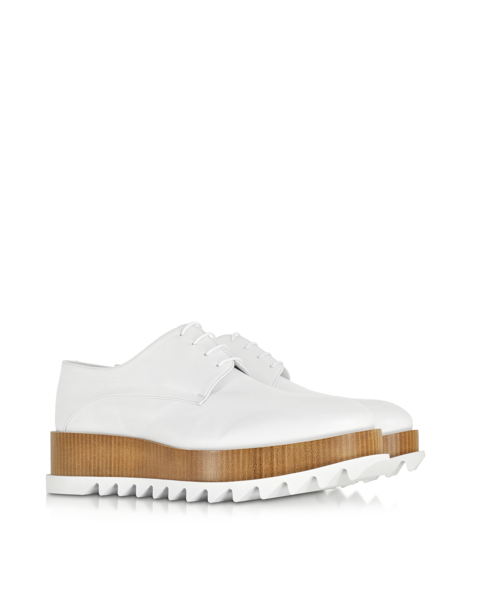 jil sander white leather platform lace up shoe in white lyst