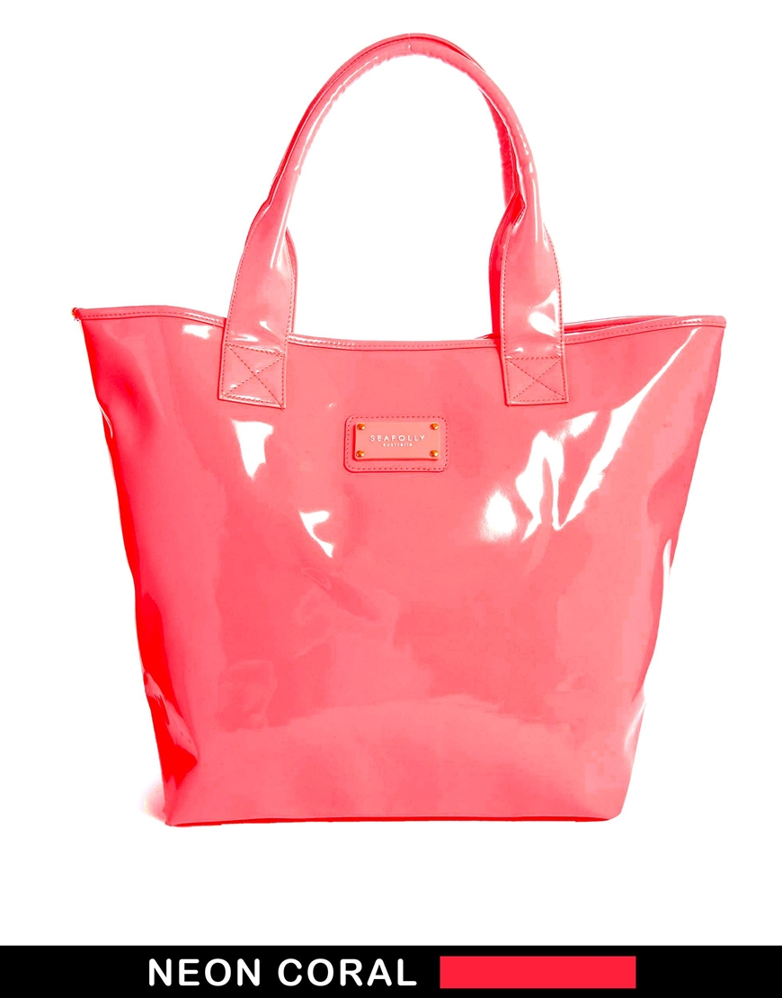 Seafolly Beach Tote Bag in Coral in Pink   Lyst