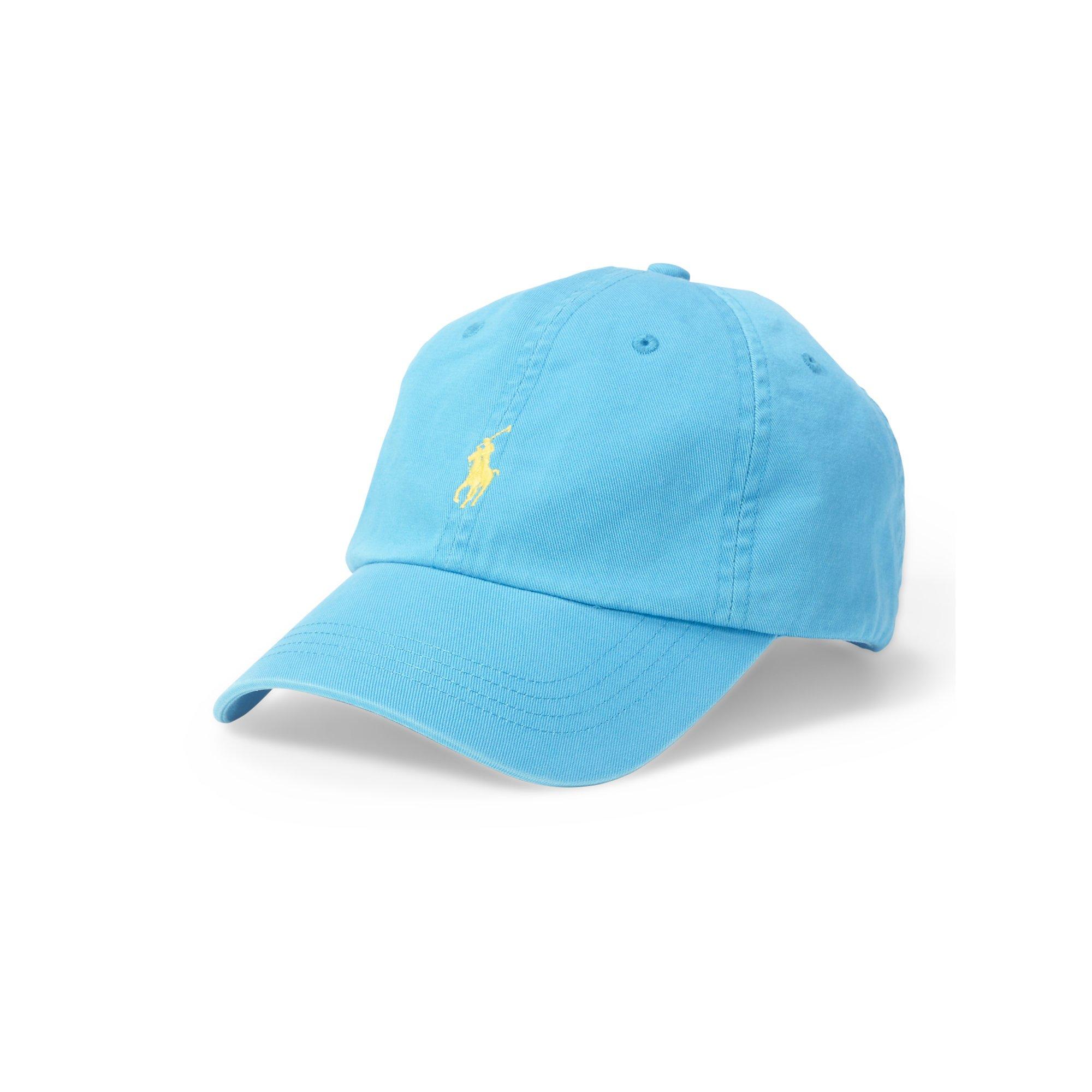 11f90f4b ... get lyst polo ralph lauren cotton chino baseball cap in blue for men  121ed 2c591