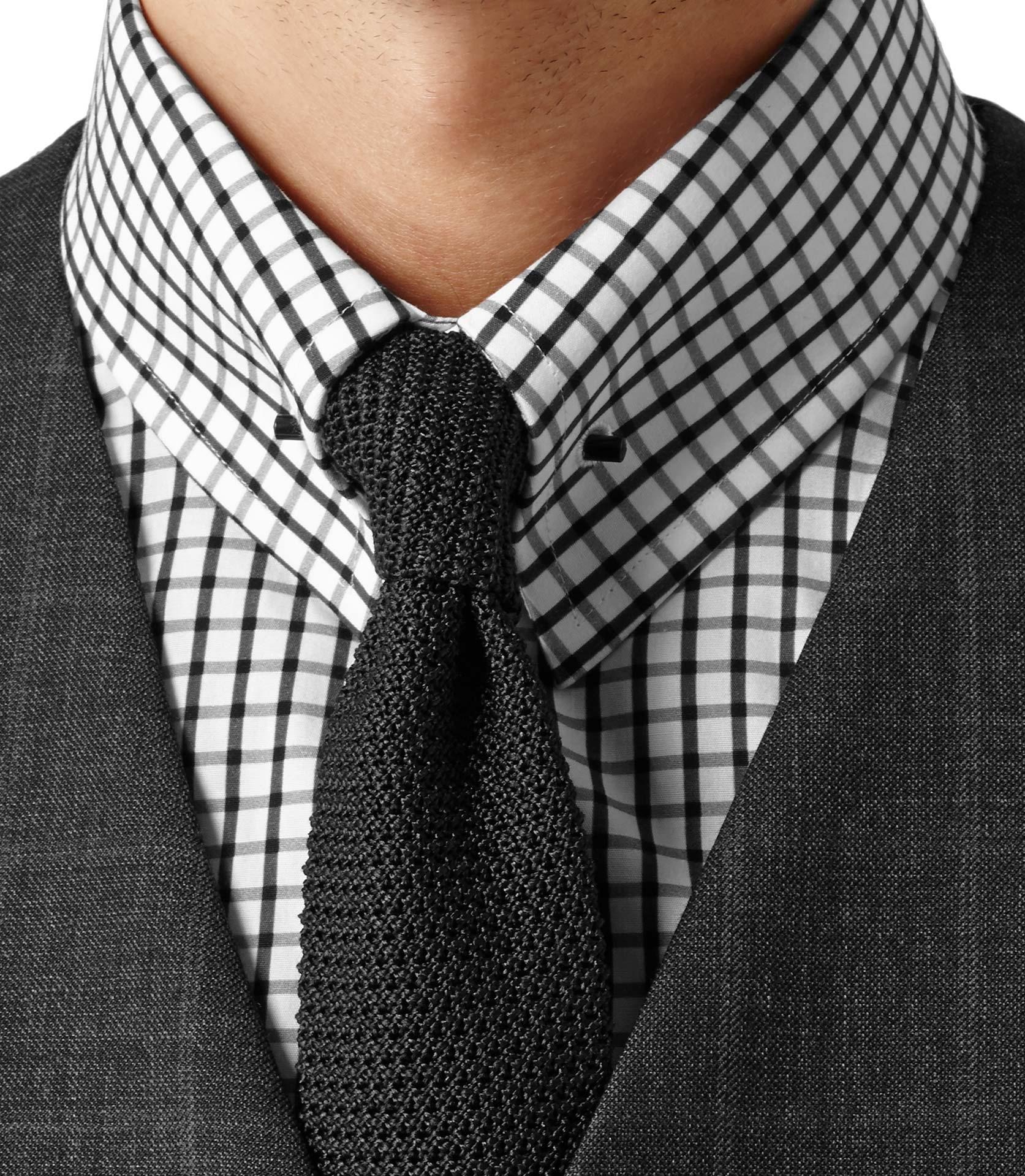 Reiss Hoult Collar Bar Check Shirt in White for Men