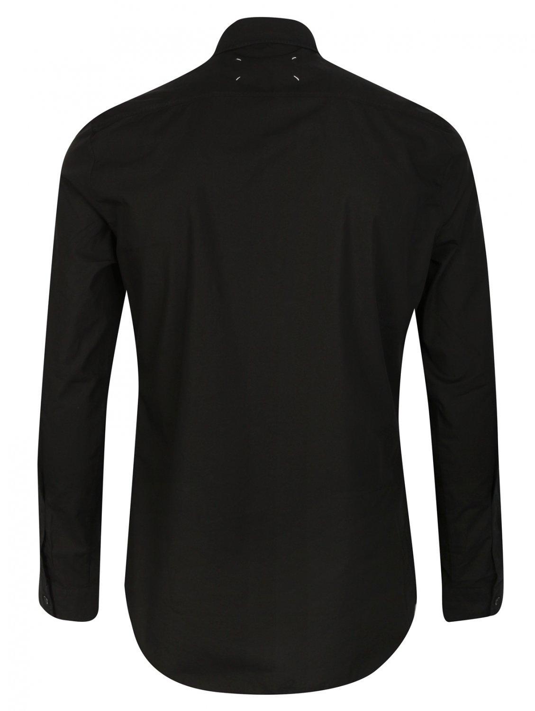 Maison Margiela Classic Black Button Down Cotton Oxford