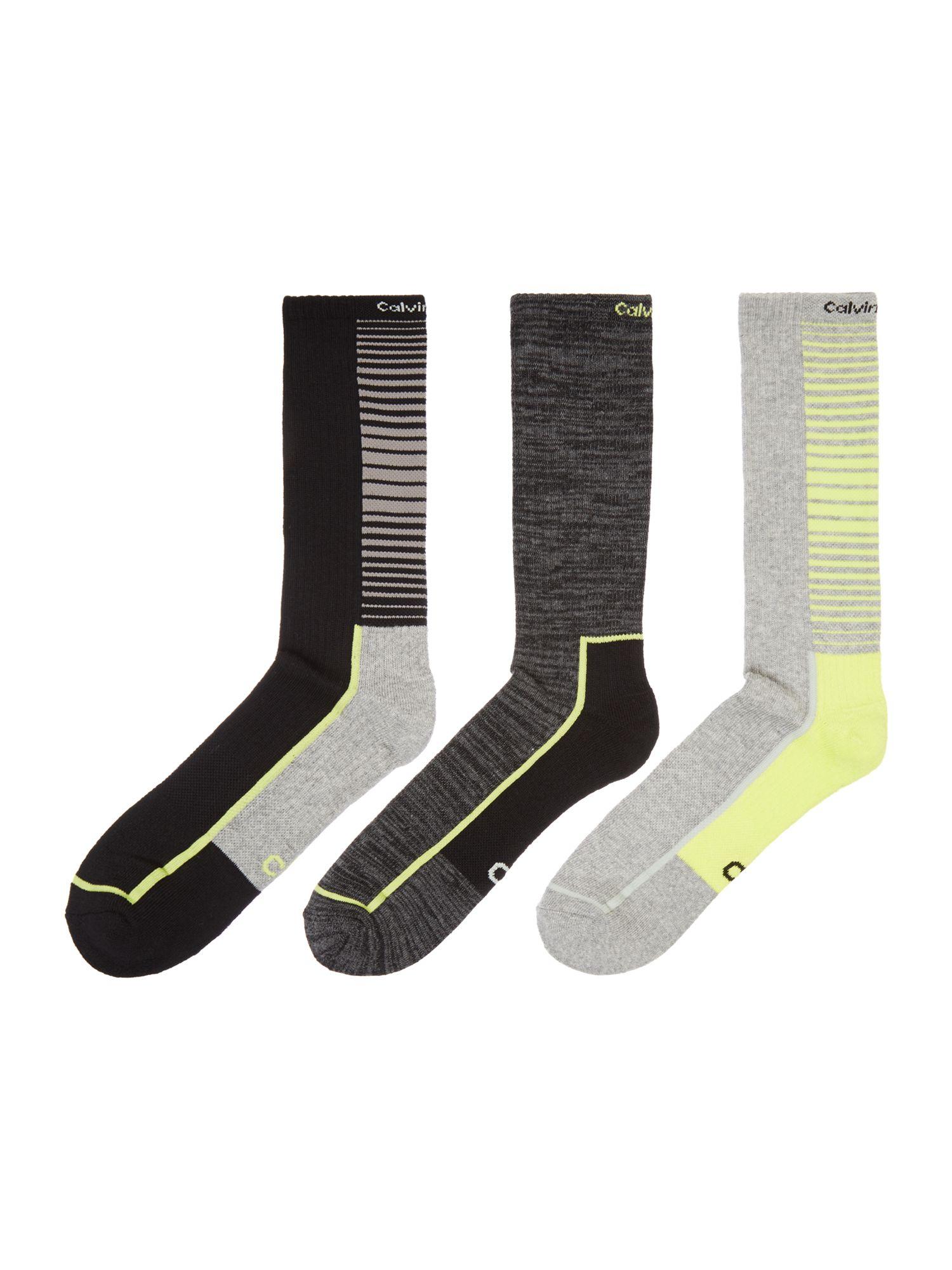 calvin klein 3 pack coolpass crew socks in multicolor for men lyst. Black Bedroom Furniture Sets. Home Design Ideas