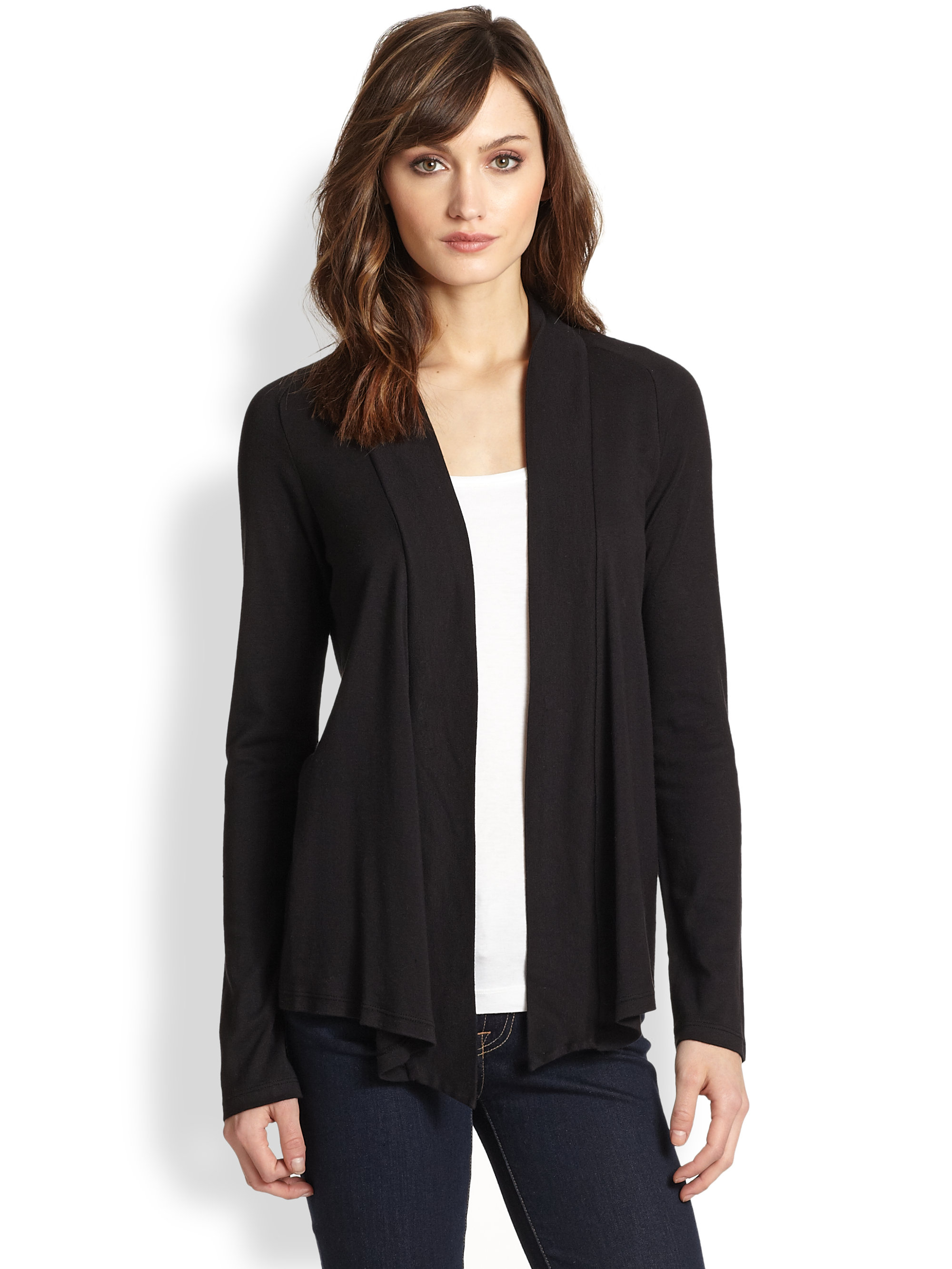 Open front black cardigan sweater - results from brands Calvin Klein, SECONDARY, Unique Bargains, products like NO BRAND 89th & Madison Open Front Cardigan M, Black, ALFANI Petite Open-Front Cardigan, Created for Macy's - Blue P/S,