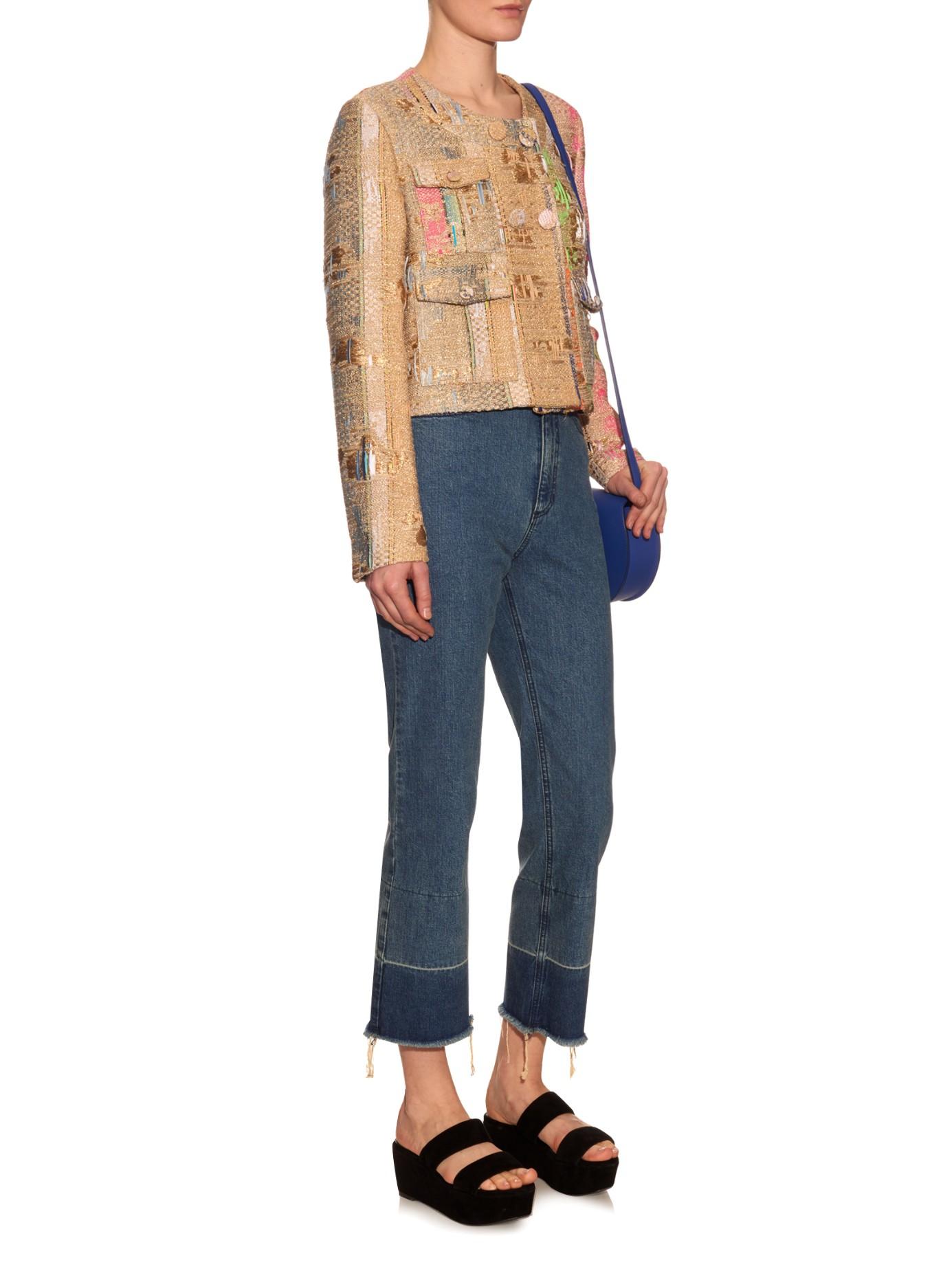 double tweed jacket Msgm Großhandel Online Aus Deutschland Freies Verschiffen Bilder tmAwwGQ