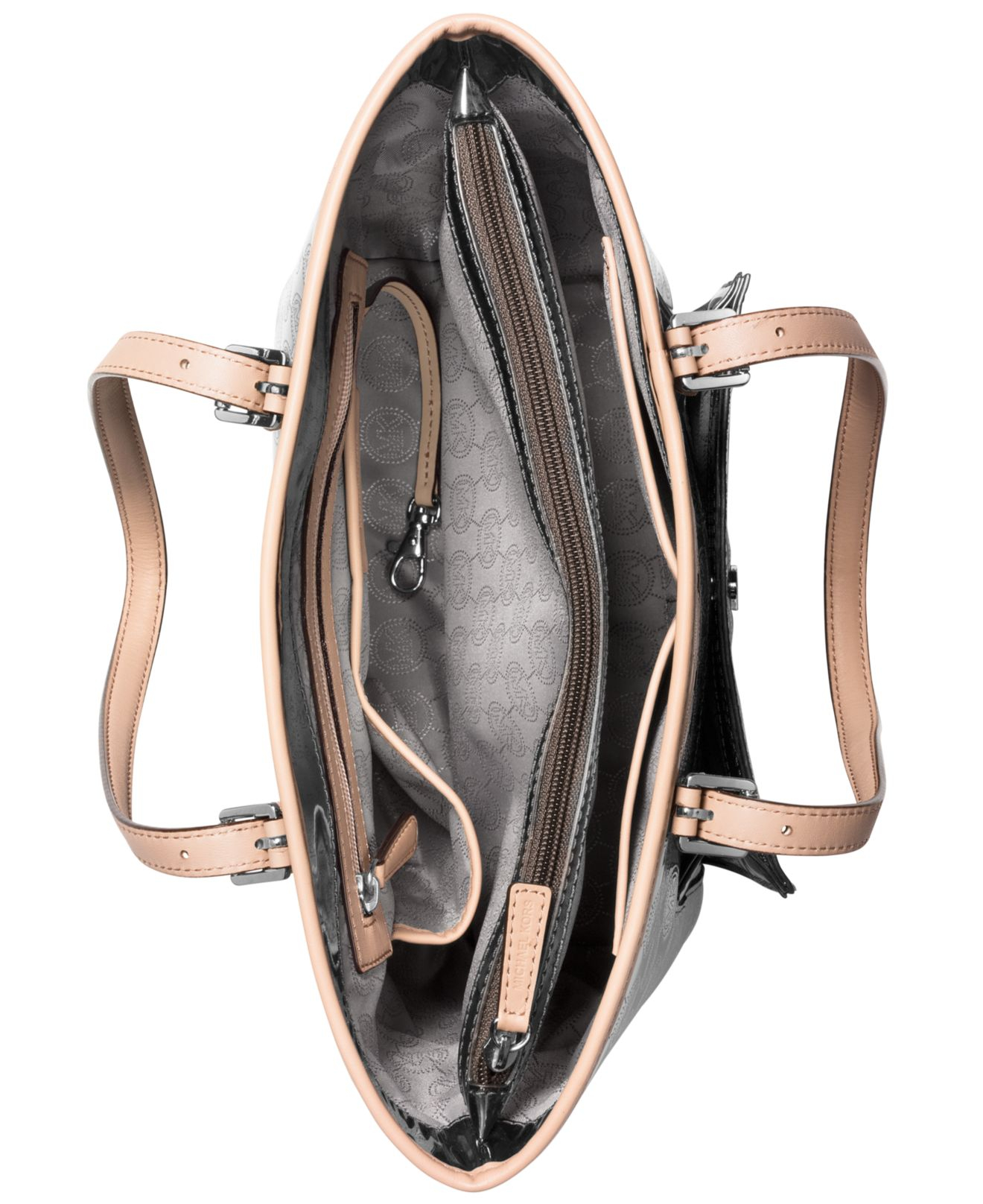 michael kors jet set item medium snap pocket tote equilibrium studio. Black Bedroom Furniture Sets. Home Design Ideas