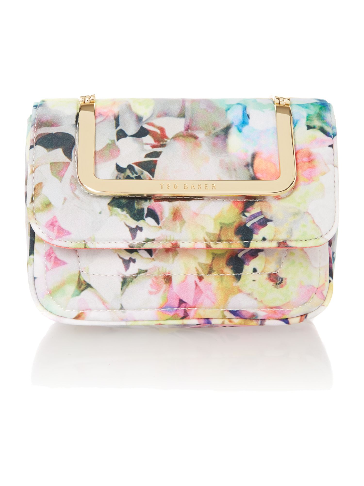 Ted Baker Mini Yellow Floral Chain Strap Cross Body Bag In Yellow | Lyst