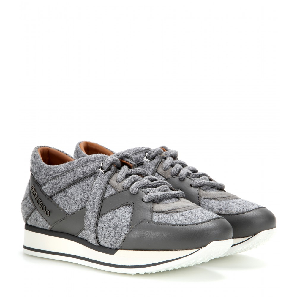 Jimmy Choo Felt Low-Top Sneakers cheap comfortable ktq5e