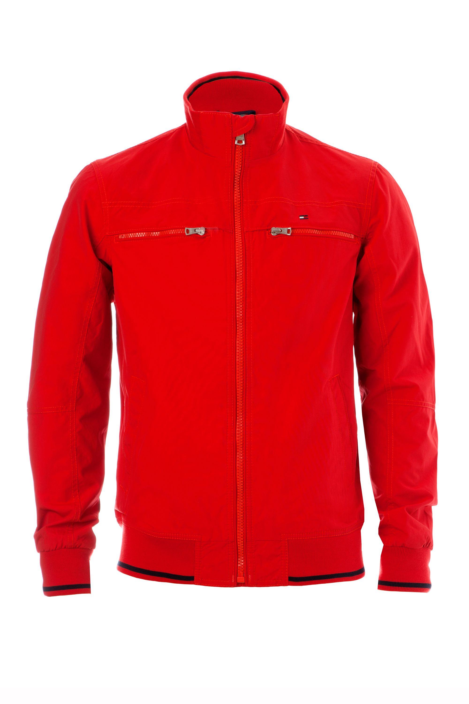 tommy hilfiger matthew bomber jacket in red for men lyst. Black Bedroom Furniture Sets. Home Design Ideas