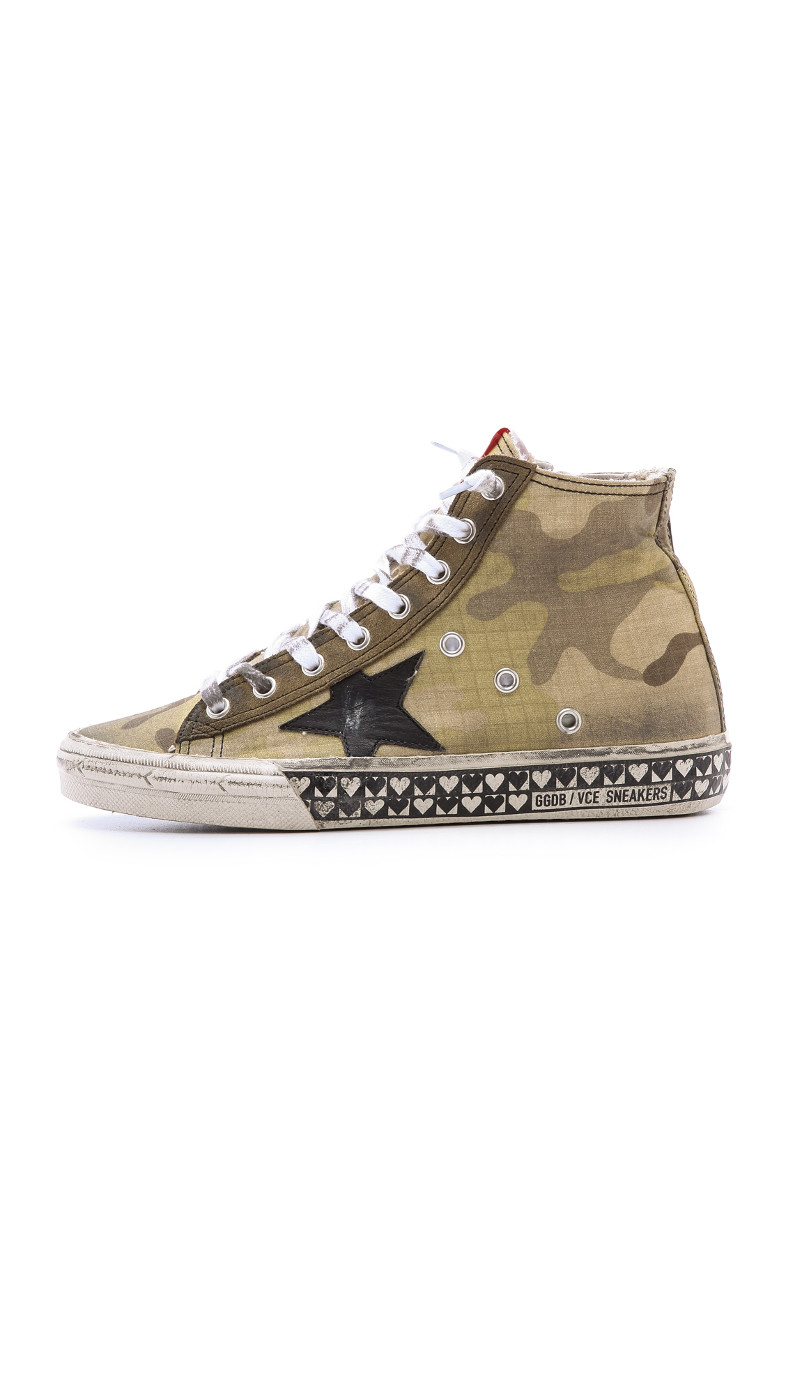 golden goose deluxe brand francy camo high tops ripstop camouflage in green lyst. Black Bedroom Furniture Sets. Home Design Ideas