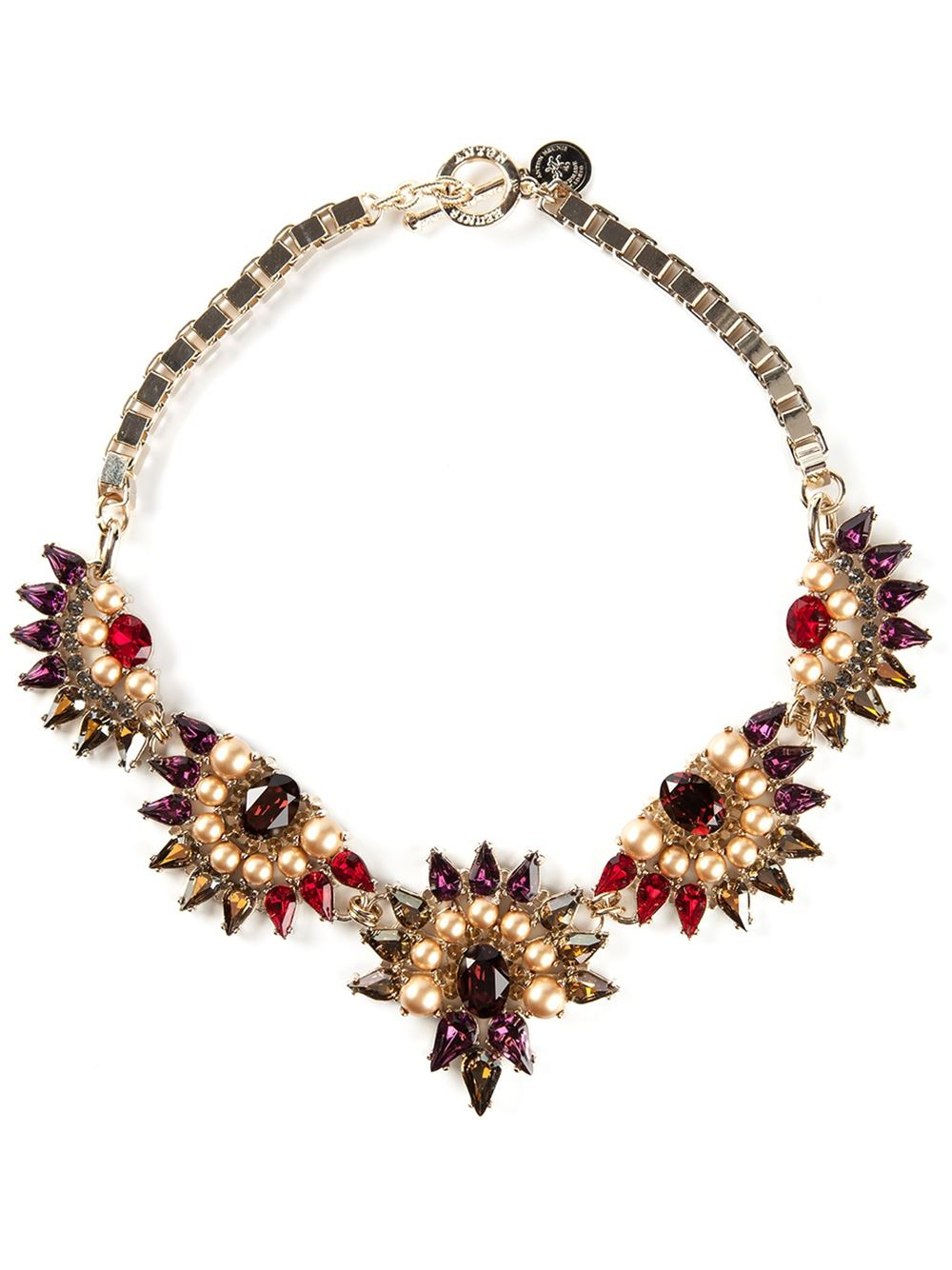 Anton Heunis Crystal Embellished Necklace In Multicolor
