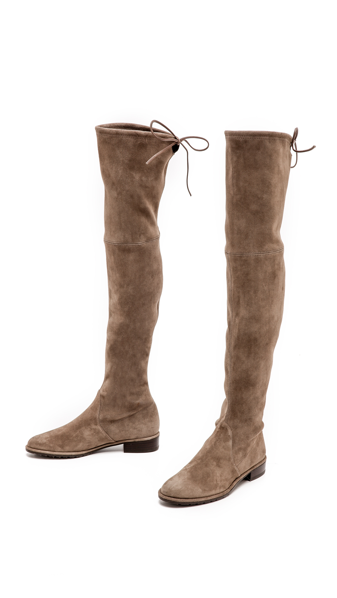 Stuart weitzman Lowland Thigh High Flat Boots - Loden in Brown | Lyst