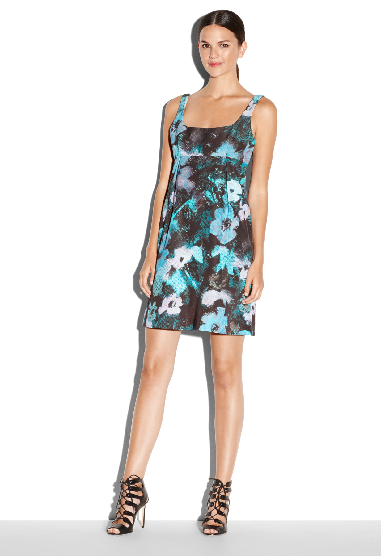 Lyst Milly Floral Print Ana Cocktail Dress In Blue