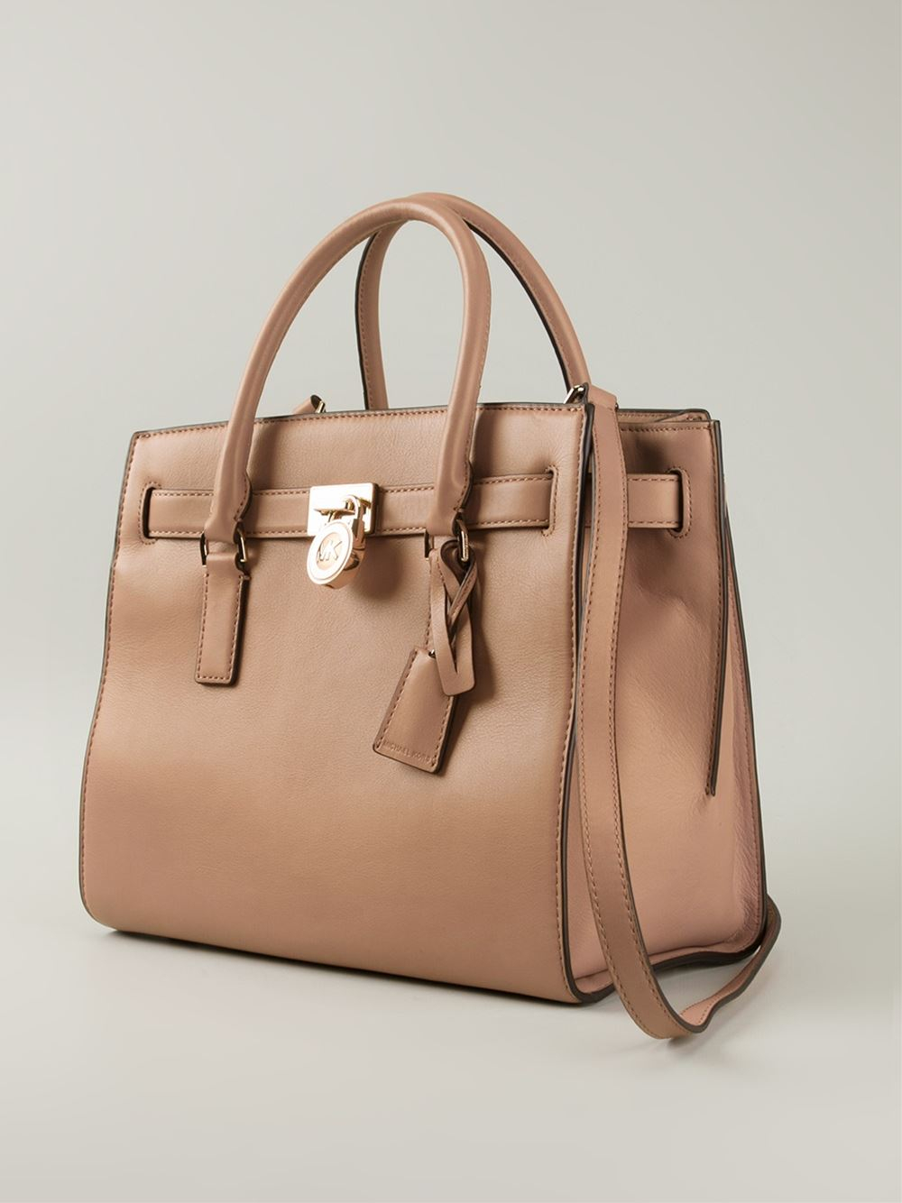 a19e2c10ace6 MICHAEL Michael Kors 'Hamilton' Tote Bag in Natural - Lyst