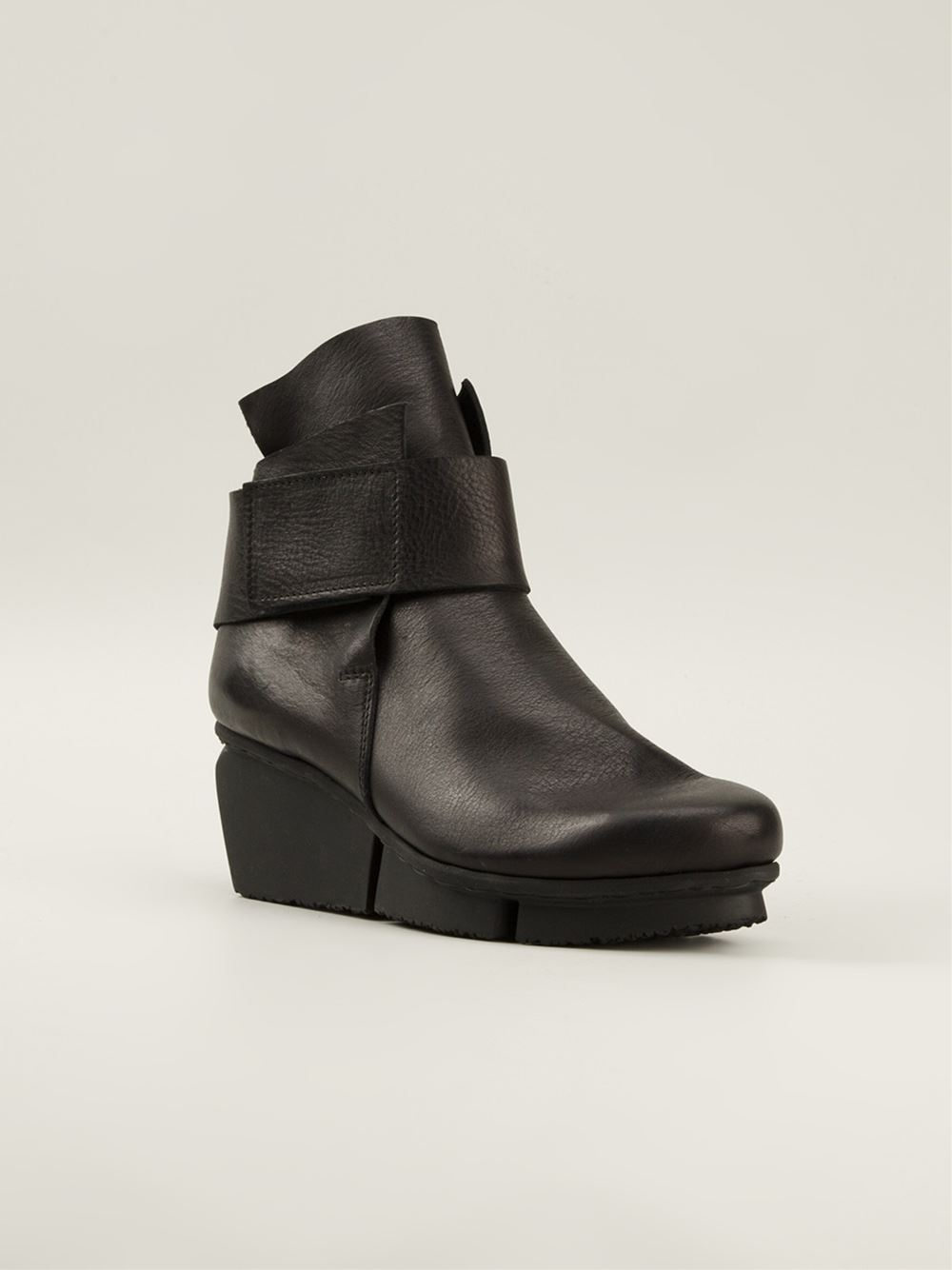 Trippen Wedge Ankle Boots in Black