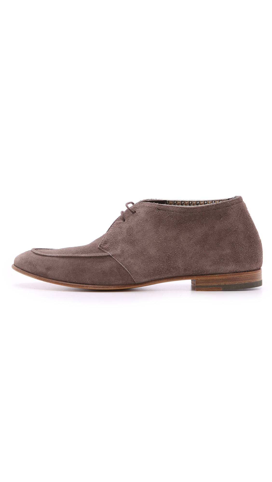 Fratelli Rossetti Suede Chukkas in Grey for Men