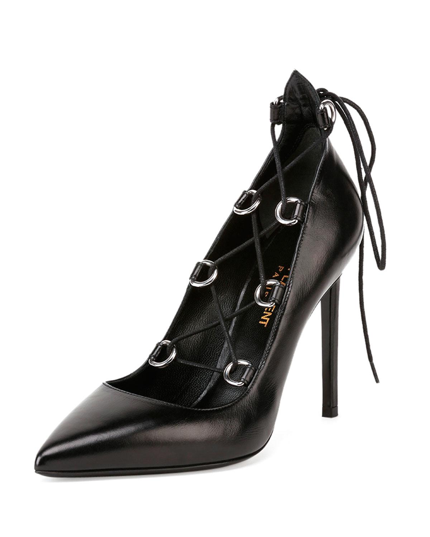 saint laurent lace up heels