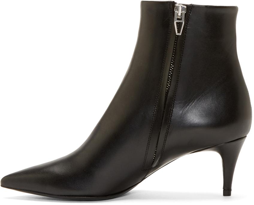 Alexander Wang Black Leather Tara Boots