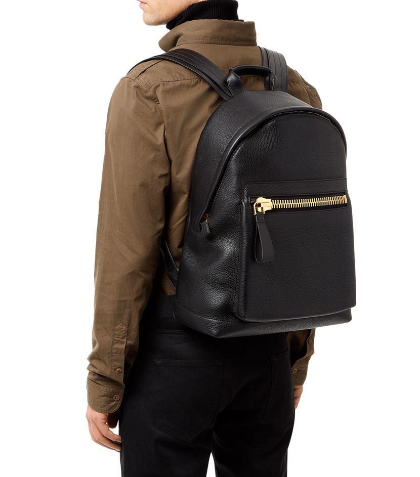 tom ford leather backpack in black for men lyst. Black Bedroom Furniture Sets. Home Design Ideas