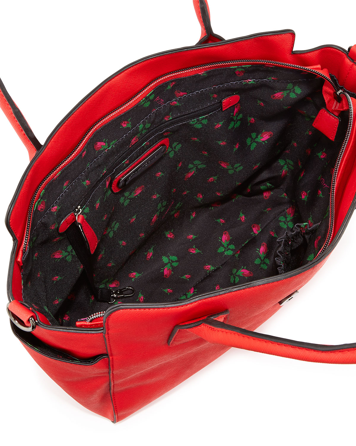 Betsey Johnson Saffiano Bow Tote Bag In Red Lyst