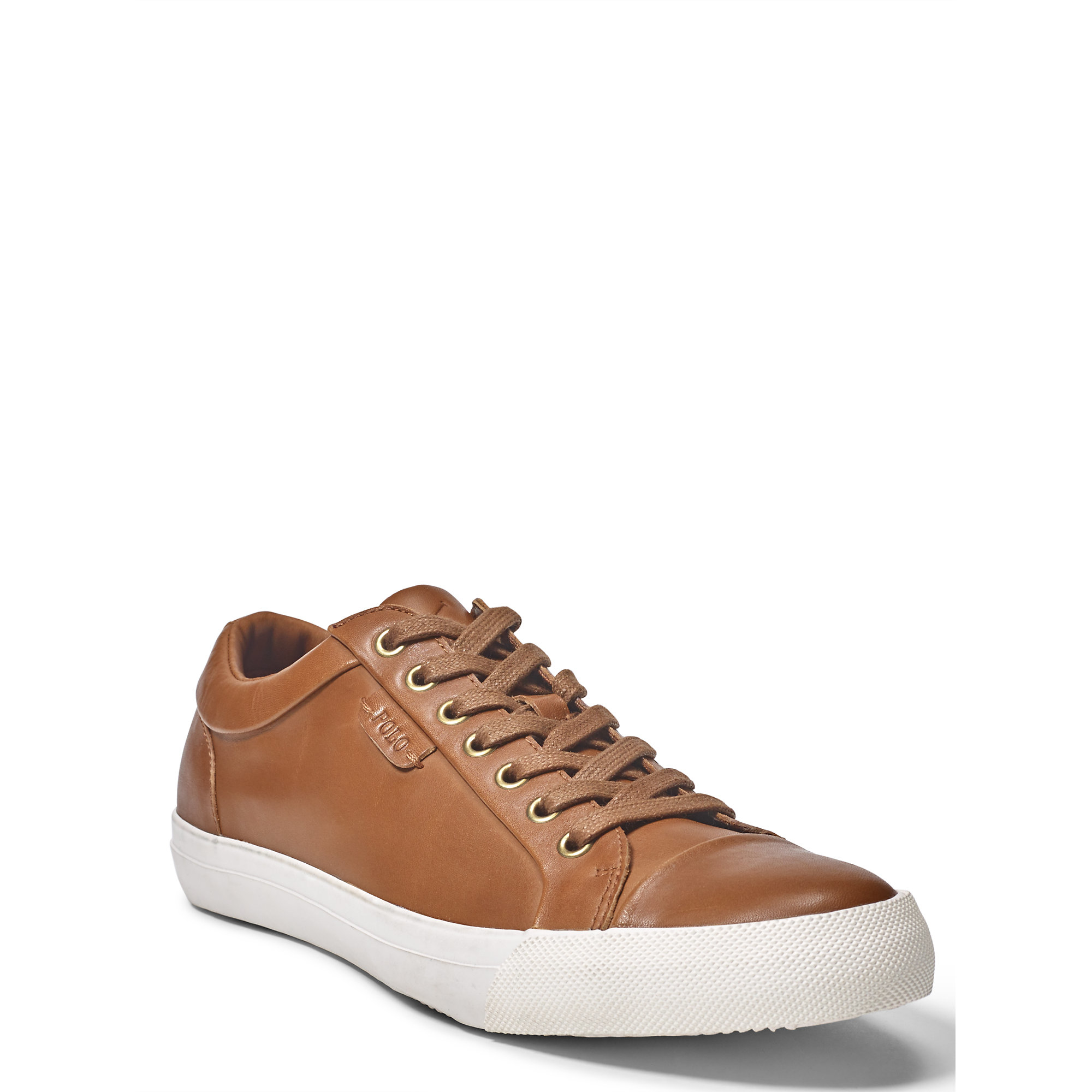 polo ralph lauren geffrey leather sneaker in brown for men lyst. Black Bedroom Furniture Sets. Home Design Ideas