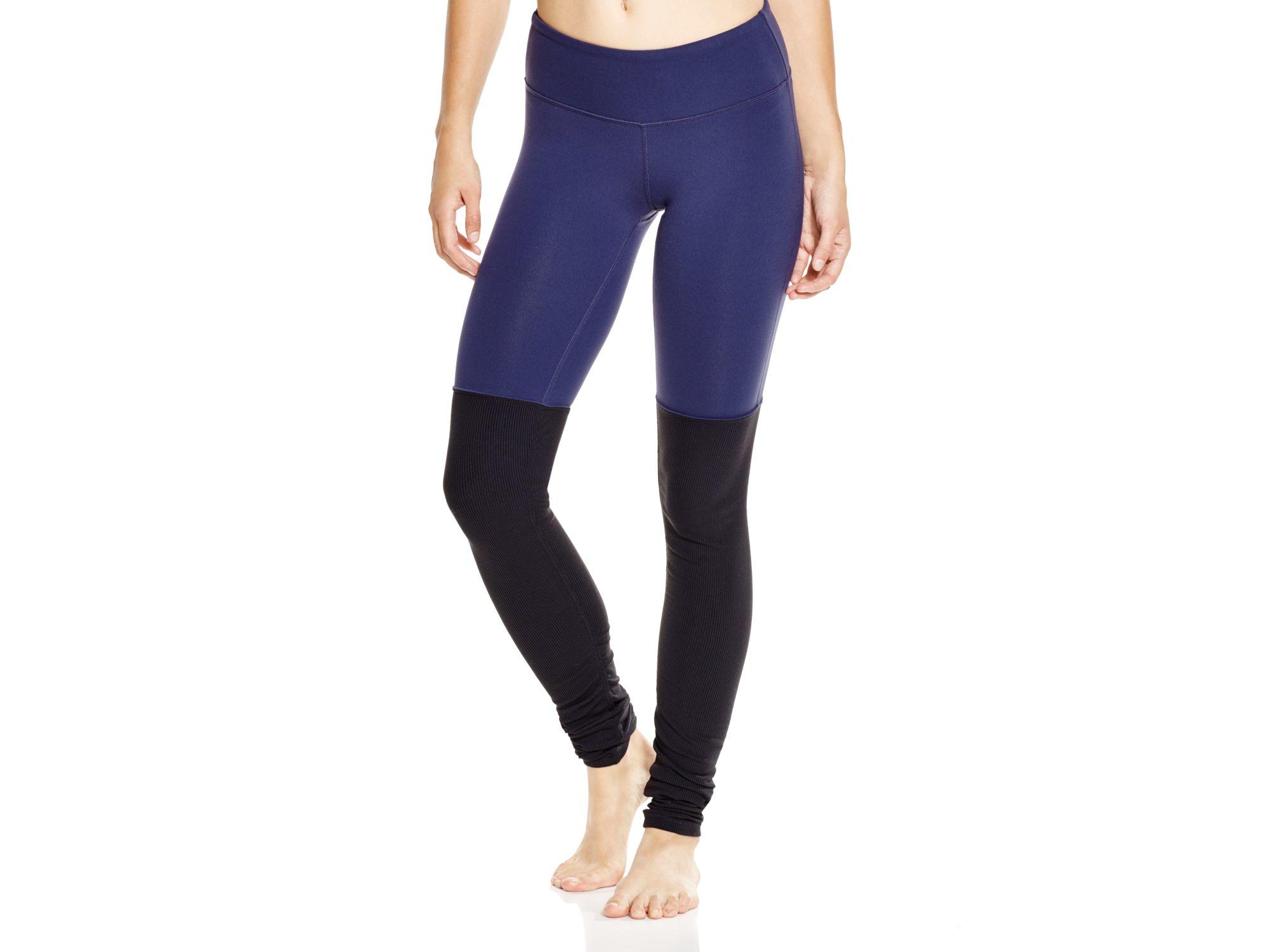 4854b09453fd2 Alo Yoga Goddess Ribbed Leggings in Blue - Lyst