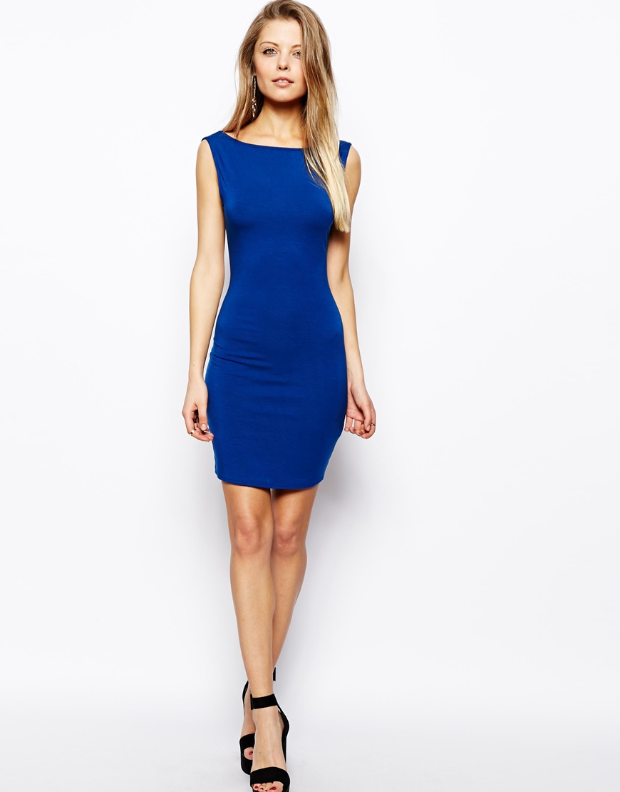 Asos bodycon dress with sleeves