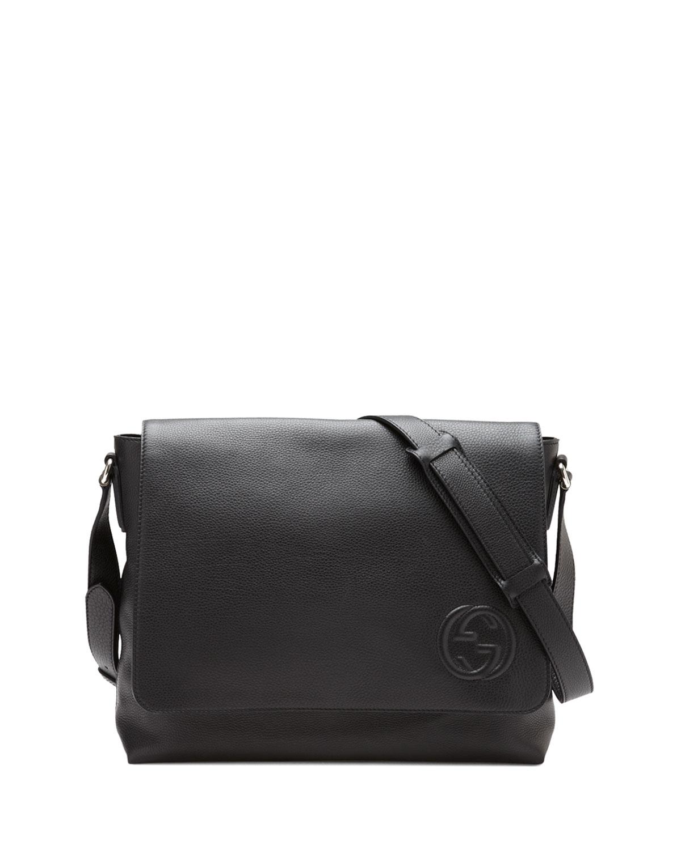 Lyst Gucci Soho Men S Leather Messenger Bag In Black For Men