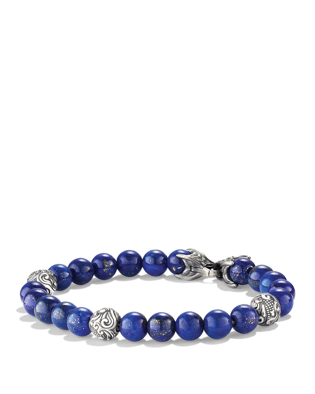 David Yurman Spiritual Beads Bracelet With Lapis Lazuli In